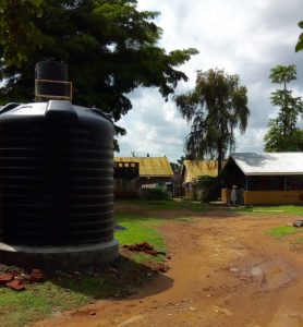 Well with water at Gulu Hospital in africa